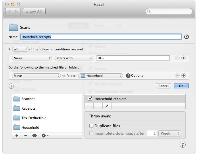 Automating file management and archival with Hazel