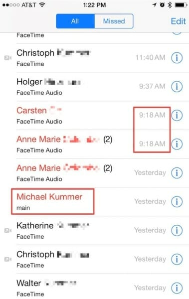 Fake missed FaceTime call notifications