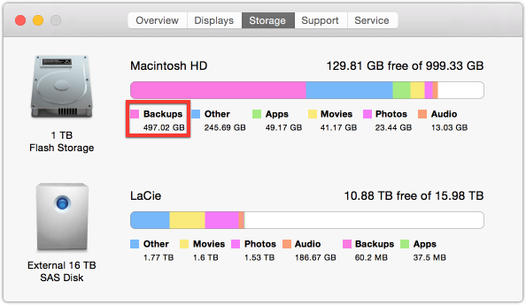 How to Remove Local Snapshots Created by Time Machine