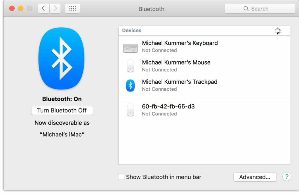 bluetooth not available on mac sierra