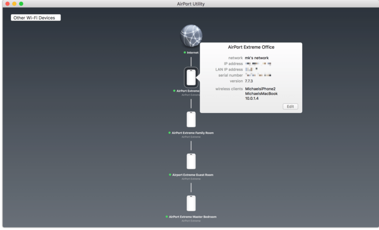 Handoff between AirPort Extreme Base Stations