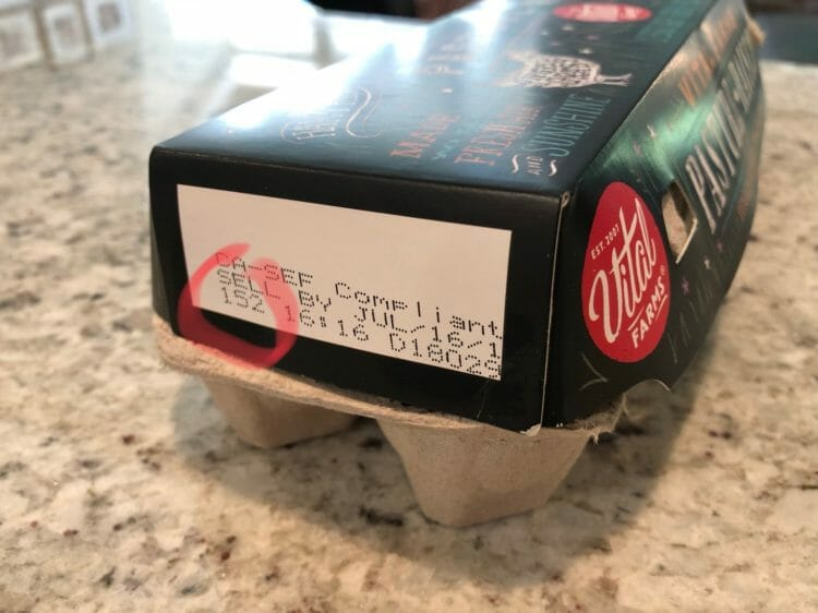 Deciphering the date code on egg cartons