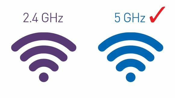 2.4 GHz vs. 5 GHz