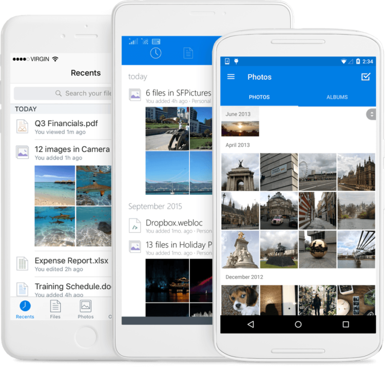 Dropbox on mobile devices