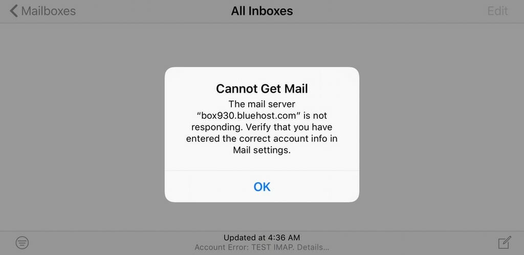 how to fix email on iphone5