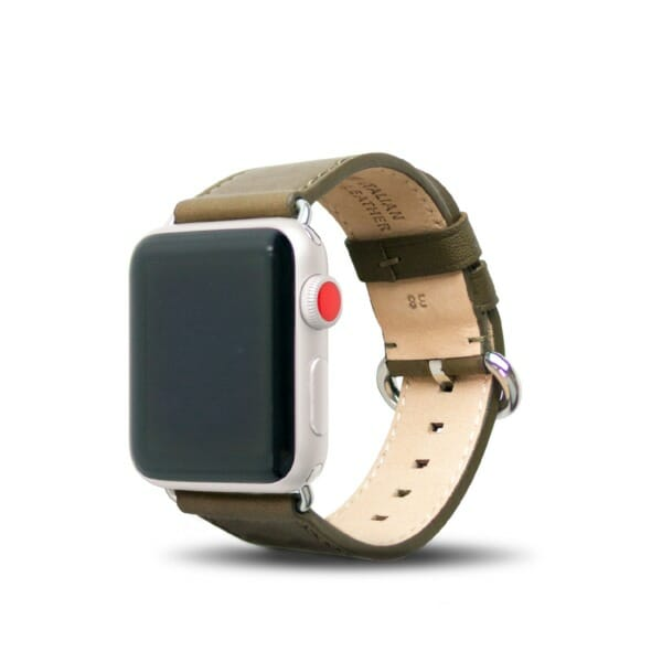 Apple Watch 38mm Leather Strap – Olive