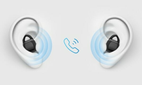 The ARIA headphones support stereo calling
