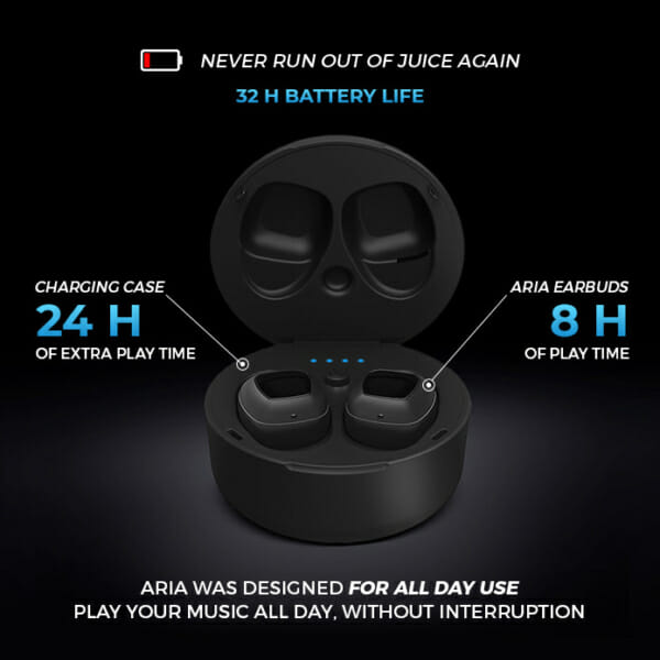 xFyro ARIA battery life
