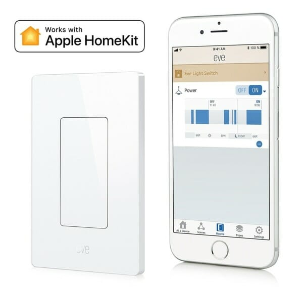 Eve Light Switch with mobile app