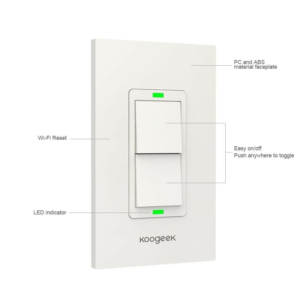 Homekit Light Switches Dimmers Review 3 Way Switch Alexa Koogeek Smart Wifi 2 Gang Kh02