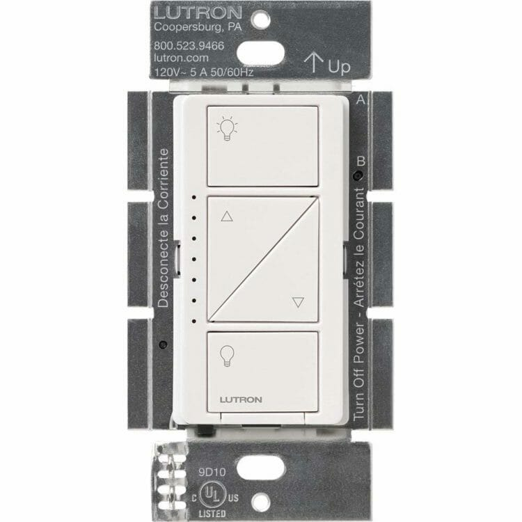 Lutron Caseta Smart Dimmer without cover