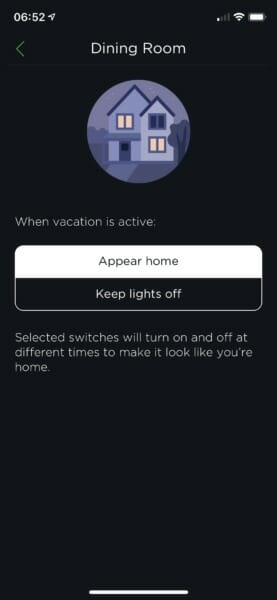Vacation Mode in the ecobee app