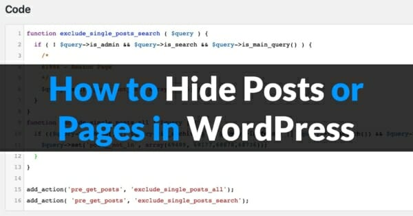 How to Hide Posts or Pages in WordPress@2x