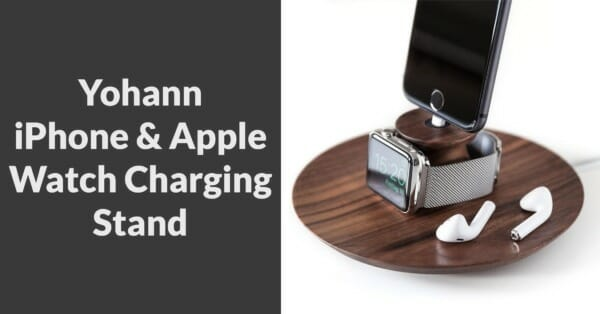 wooden iPhone & Apple Watch charging stand