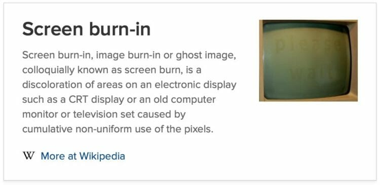 Screen burn-in - Wikipedia