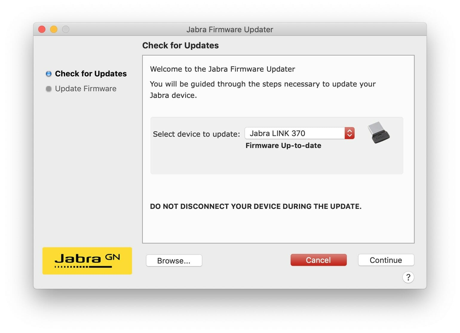 Jabra Firmware Updater