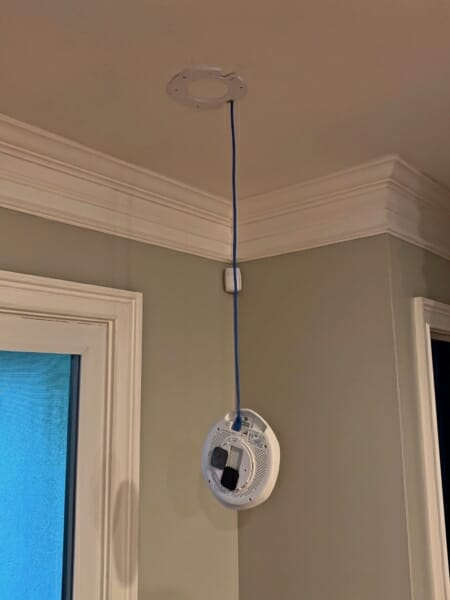 Zyxel Access Point hanging from ceiling