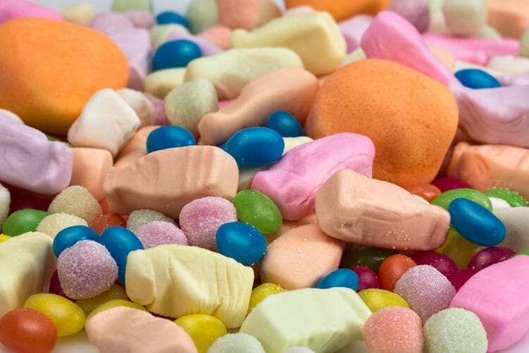 Candy containing Xylitol