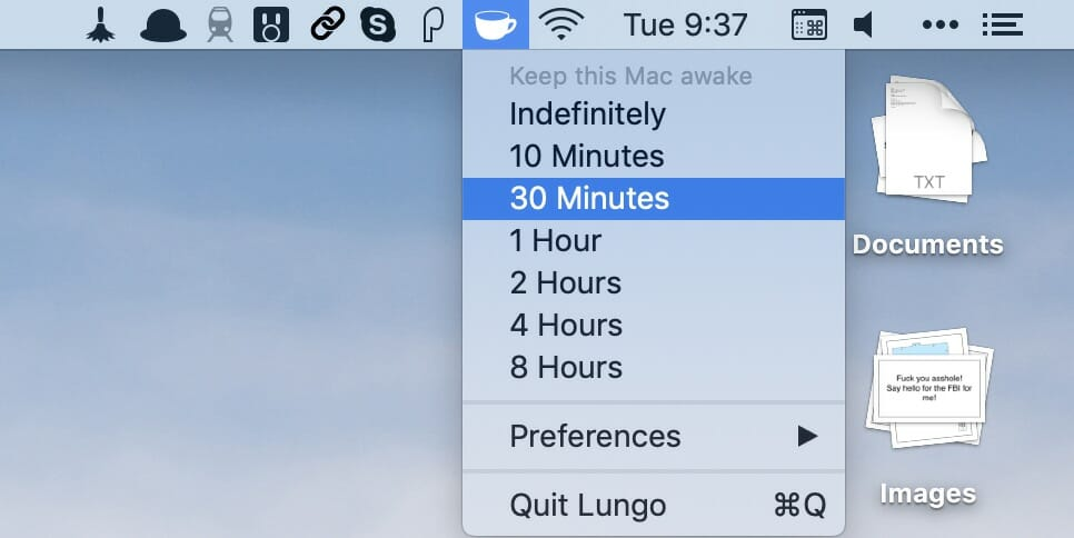 Lungo - Prevent your Mac from sleeping