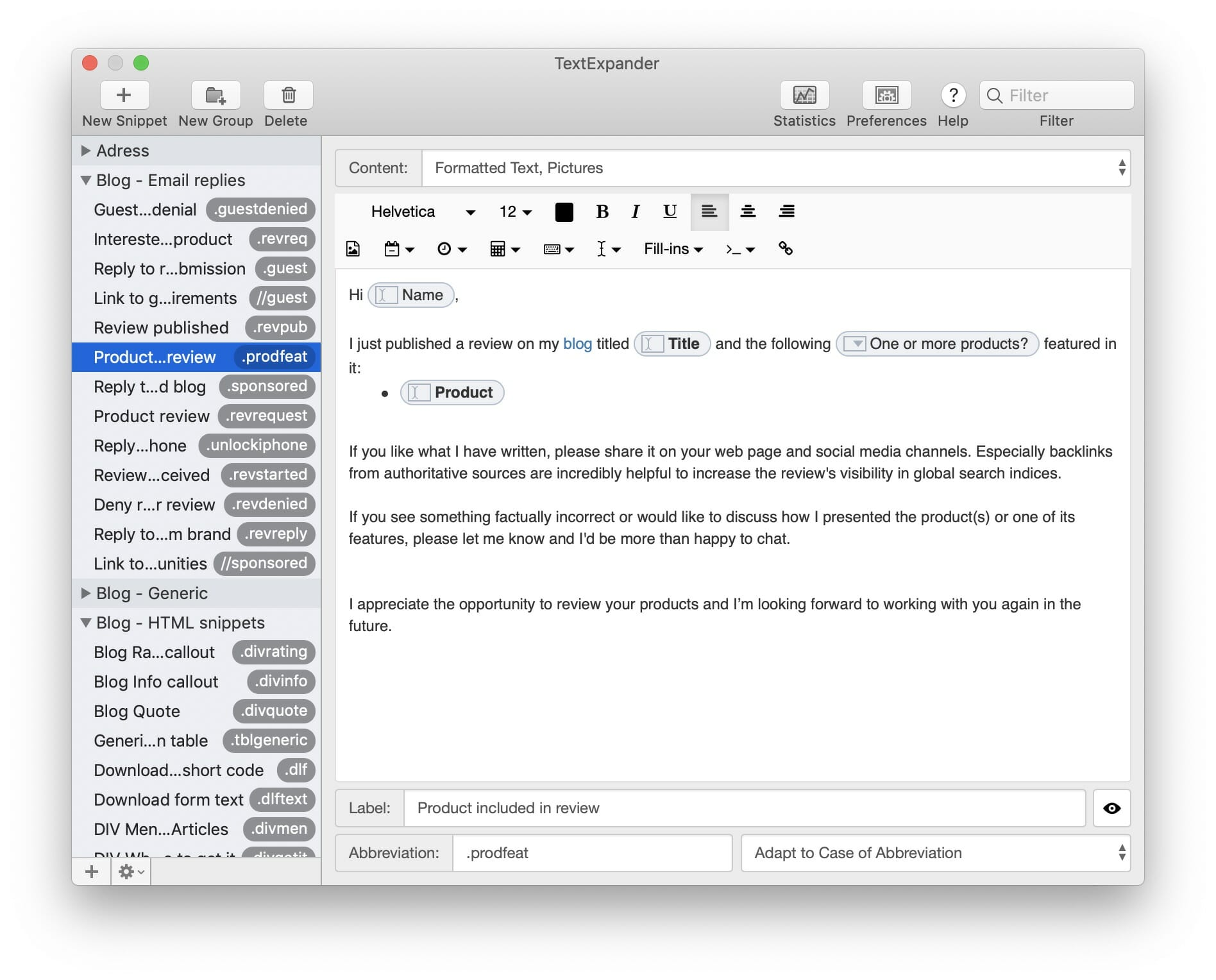 TextExpander - Makes you type less