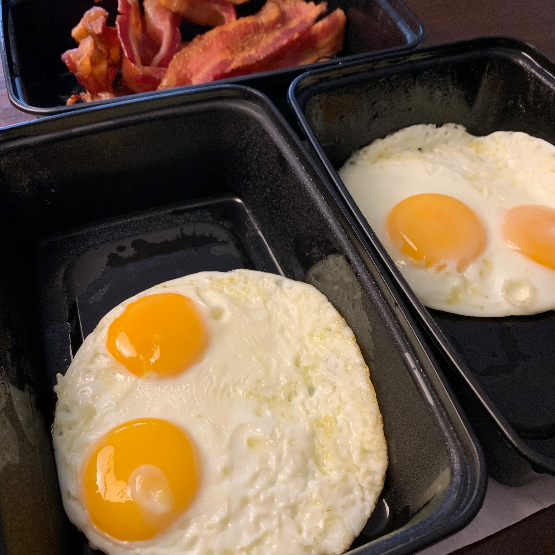 Fried eggs with bacon (Westin Denver)