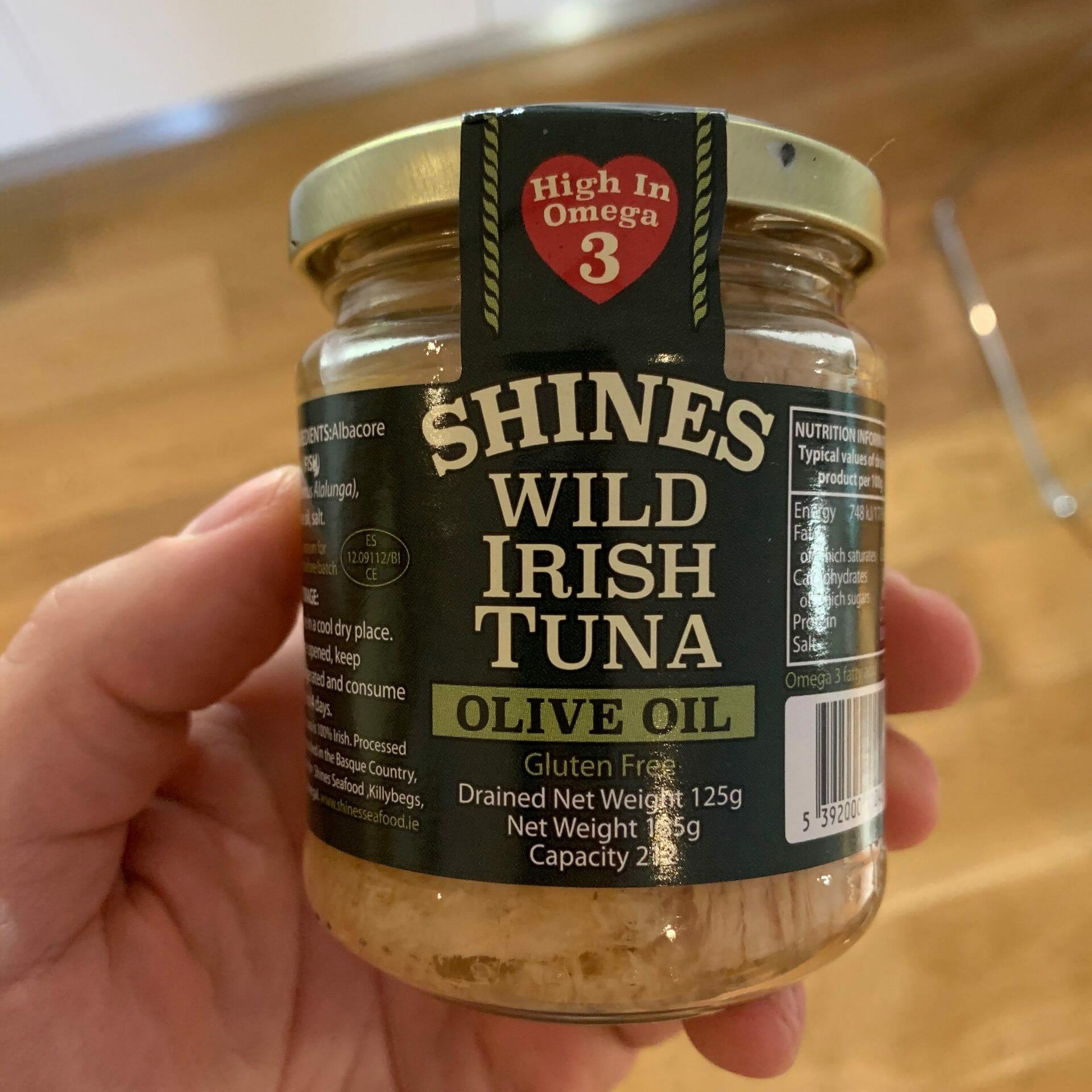 Wild-caught, Irish tuna in olive oil