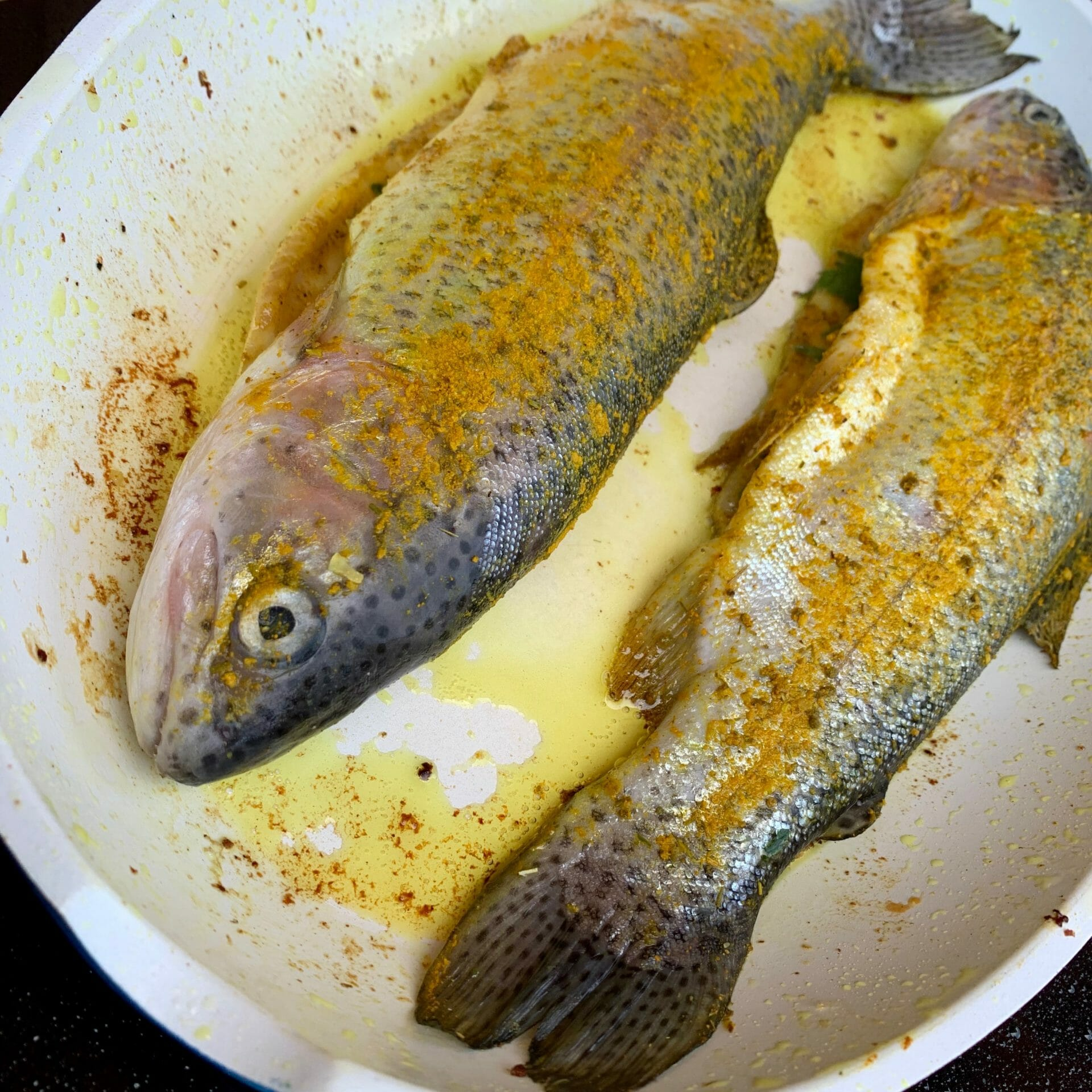 Grilled trout my grandfather caught