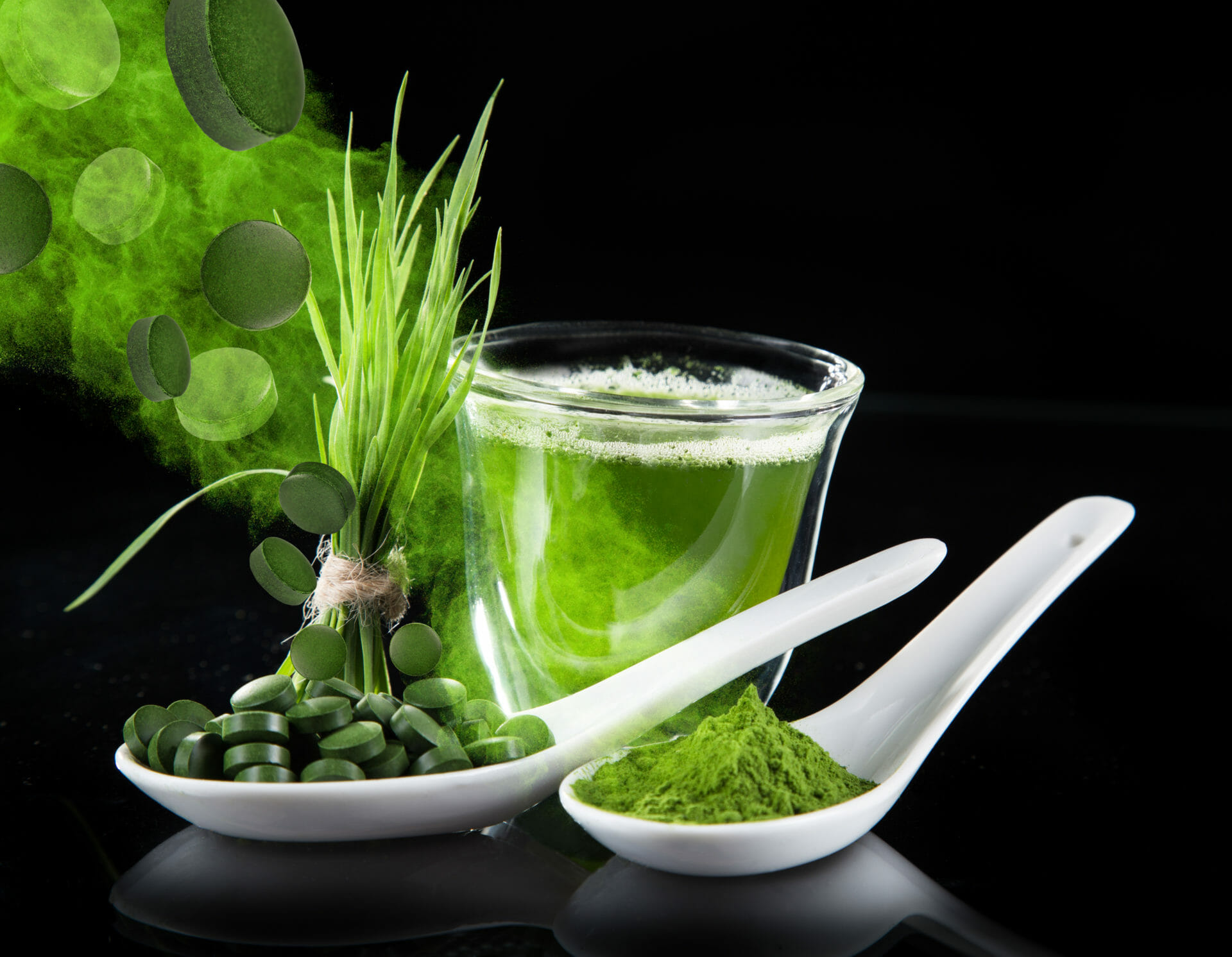 How are green powders made?