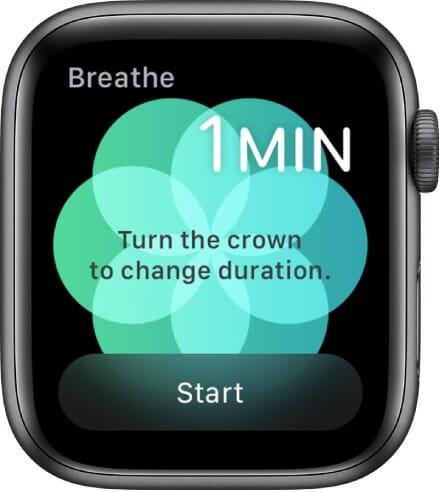 Breathe app on the Apple Watch