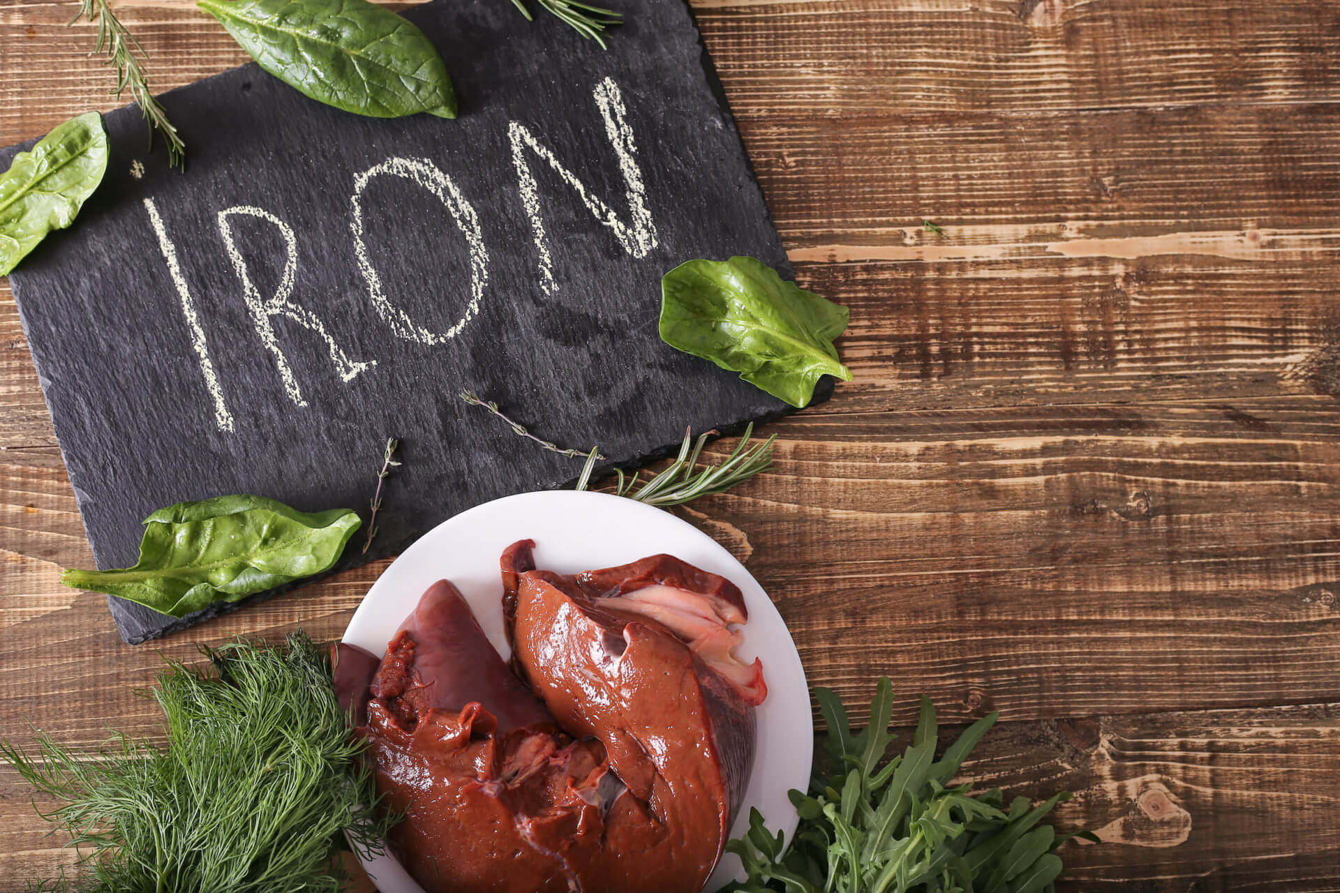 Liver is rich in heme iron
